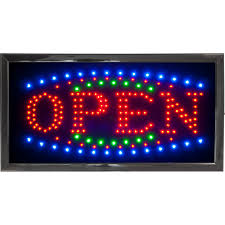 shop open sign lights led open sign bright flashing window hanging display neon light shop