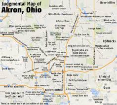 map of ohio humorous stereotypical maps of ohio