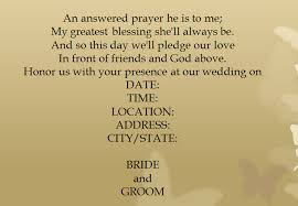 wedding blessing words 15 sles for casual invitation wording for wedding everafterguide