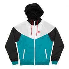 nike windbreaker nike windrunner jacket teal white black mens clothing from attic