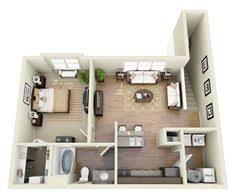 Apartments One Bedroom Image Result For 1 Bedroom 3d Floor Plan Modern Home Design One