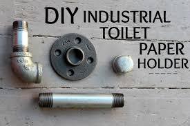 toilet paper holder diy keep it beautiful diy industrial toilet paper holder