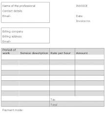 standard invoice templates excel sales invoice template sales