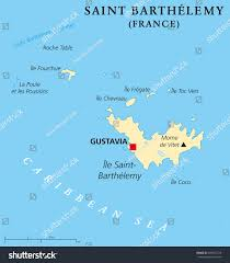 France On World Map by Saint Barthelemy Political Map Capital Gustavia Stock Vector