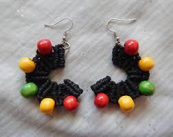 reggae earrings jamaica jewelry etsy