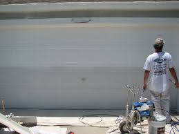 Painting Aluminum Garage Doors by Garage Door Painting Before And After Viera Fl