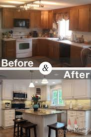 Glazing Kitchen Cabinets Before And After by 198 Best Kitchen Transformations Images On Pinterest Kitchen