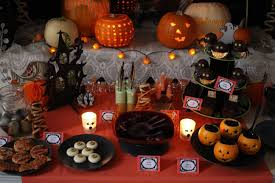 Scary Halloween House Decorations Scary Halloween Party Table Decor 3 Tier Haunted House And Pumpkin