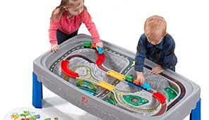step2 deluxe canyon road train and track table with lid step2 deluxe canyon road train track table makhsoom