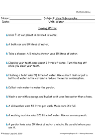 primaryleap co uk saving water worksheet