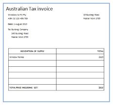 australian tax invoice template 1 austrialian tax invoice