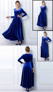 elegant women long sleeve party formal evening maxi dress prom