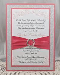 Make Invitation Card Coral Quinceanera Invitations Kawaiitheo Com