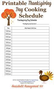 thanksgiving day menus free printable thanksgiving day schedule cooking countdown