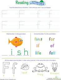 alphabet worksheet set letters a z education com