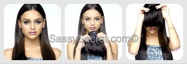 clip on bangs silky clip in bangs like bangs by sassy secret