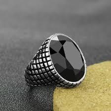 black finger rings images Black rhinestone snake skin design titanium steel ring armour amour jpg