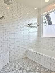 Grey Metro Bathroom Tiles White Subway Tile Grey Grout Houzz