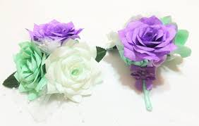 mint green corsage mint green and lavender corsages s wedding corsage prom