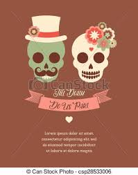 mexican wedding invitations mexican wedding invitation with two skulls mexican