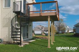 Backyard Deck Prices Enhance Your Deck With An Outdoor Spiral Staircase Minneapolis