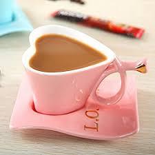 heart shaped mug uuouu ceramic coffee mug heart shaped cups pink