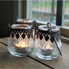 vintage tea light holders set of 3 vintage hanging glass tea light holder