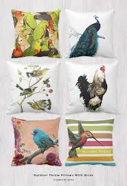 unique outdoor throw pillows with birds on them uniq home decor