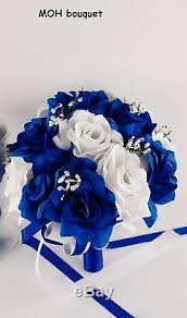 royal blue corsage and boutonniere wedding silk flowers royal blue white bouquet corsage boutonnieres