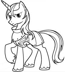 my little pony shining armor posing coloring pages for kids gz5