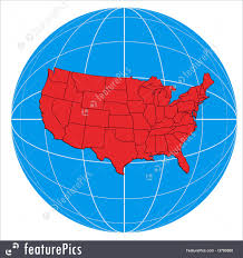 Images Of The Usa Map by Globe Usa Map Illustration