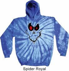 mens halloween hoodie ghost face tie dye hoody ghost face mens