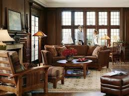 Wooden Furnitures Sofa Living Room Leather Furniture Ideas Rectangle Shape Dark Brown