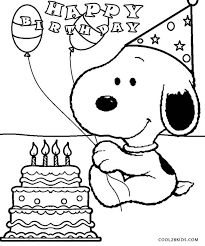 printable snoopy coloring pages for cool2bkids
