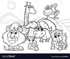 wild animal coloring page giraffe safari realistic pages animals