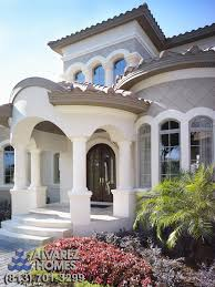 mediterranean home builders the front entry by luxury home builders alvarez homes