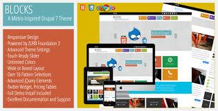 theme drupal menu block blocks a metro inspired responsive drupal theme themes for download