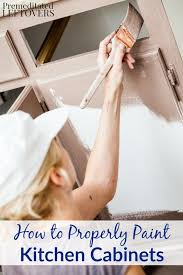 how to properly paint cabinets how to properly paint kitchen cabinets