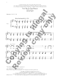 thanksgiving piano for he is our peace satb by philip w j s j w pepper sheet music