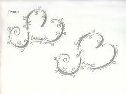strength heart tattoo sketch by scribble