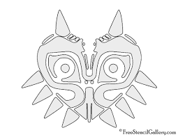 Halloween Stencils Printable by The Legend Of Zelda Majora U0027s Mask Stencil Free Stencil Gallery
