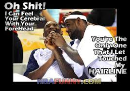Lebron Hairline Meme - lebron james and kobe bryant the best friends nba funny moments