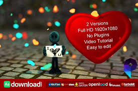 i love you free download videohive template free after effects