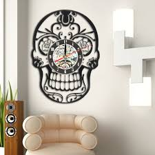 6 type balck acrylic art vinyl record wall clock room home