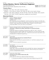 software engineer resume senior engineer resume
