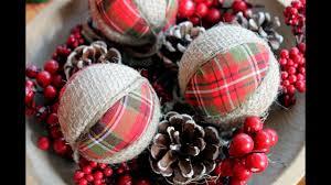plaid and burlap christmas ornaments youtube