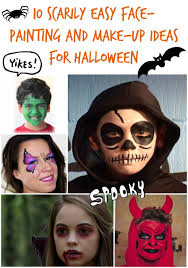 10 halloween face painting and make up ideas for children