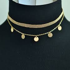 link choker necklace images Alyxuy jewelry new fashion trendy round bead chain link choker jpg