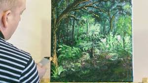 the forest glade acrylic painting by steve buchanan youtube