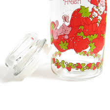 kitchen canisters and jars strawberry shortcake jar vintage kitchen canister with lid and